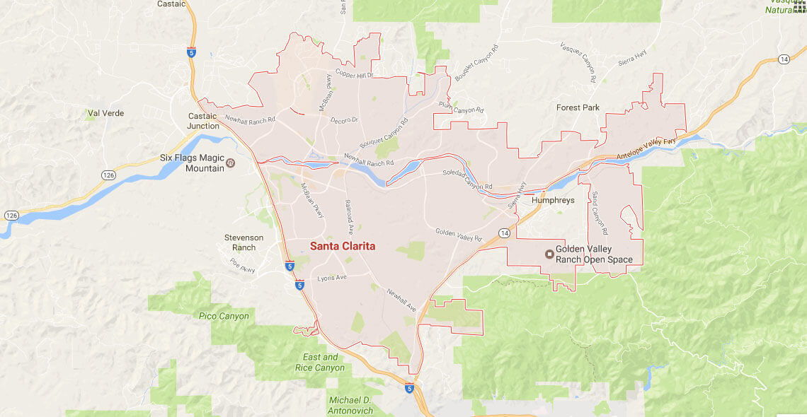 Santa Clarita Service Area Map